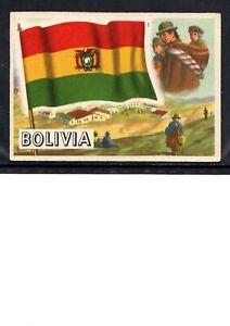 EARLY BOLIVIA FLAG TRADE CARD, NATIONAL FLAG OF BOLIVIA