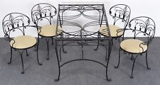 Salterini Florentine Wrought Iron Dining Set, 1980