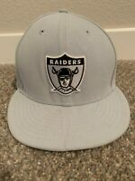 New Era 59Fifty NFL Cap Oakland/Las Vegas Raiders Gray Fitted Hat 5950 7 7/8