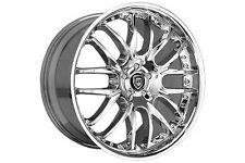 """22"""" Stagger Wheels Lexani R8 Chrome Rims R-08 R-Eight Mercedes SLS BMW 745 20"""