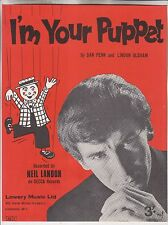 1966 SHEET MUSIC - I'M YOUR PUPPET - RECORDED BY NEIL LANDON