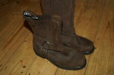 Genuine Grinders Harness Brown Leather Biker Boots UK 7