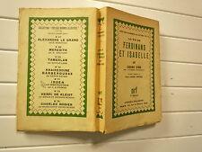 1932 LA VIE DE FERDINAND ET ISABELLE DE EUGENIO D'ORS CHEZ NRF GAL PARIS BROCHE