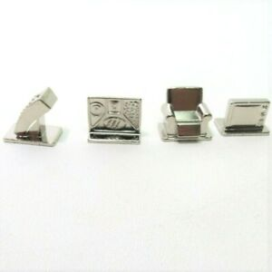 2005 TV Scene It DVD Board Game Replacement Parts Pieces- 4 Metal Movers