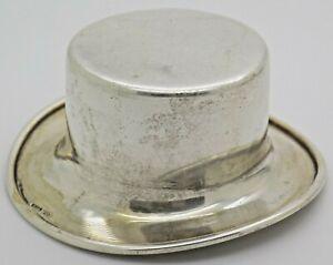 Vintage Solid Silver Handmade LARGE Top Hat Figurine Hallmarked Miniature