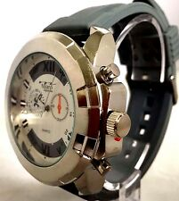 Men's Montres Carlo Fashion Watch MC41945 Gray Silicone Band Water Resistant