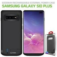 Samsung Galaxy S10 Plus Rechargeable External Power Battery Charge Case 6000mAh.