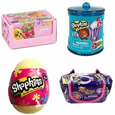 Shopkins Bundle Season 4 & Fashion Spree Basket, Food Fair Canister & Easter Egg