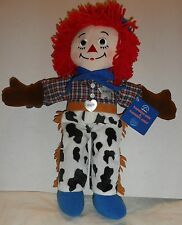 "NEW 16"" Tall Applause Raggedy Andy Cowboy Cloth Dolls  Ann's Brother"