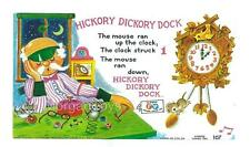 FISHER-PRICE MUSIC BOX CLOCK RADIO REPLACEMENT LITHO #107 - 1971 Hickory Dickory