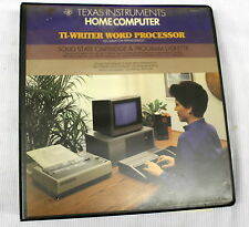 Texas Instruments TI-Writer Word Processor Information Management Manual - 1982