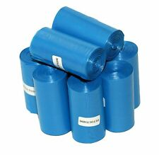 1035 DOG PET WASTE POOP BAGS 45 BLUE UNSCENT REFILL ROLL CORELESS USA