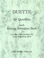 QUERFLÖTE DUETTE NACH J.S. BACH ( NOTEN )