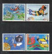 Gibraltar 2000 Stampin' The Future--Children's Art Topical (828-31) MNH