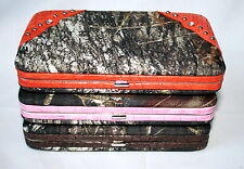 Mossy Oak Camo Ladies Clutch Wallet, Pink Orange Brown Camouflage