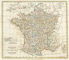 FRANCE MAP WORLD EARTH GLOBE ATLAS POSTER PRINT ANTIQUE OLD 1799