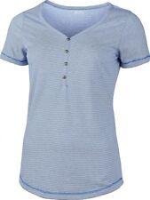 T-Shirt High Colorado Elena Damen Blau V-Ausschnitt Gr. 42