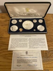 1978 Coinage Of The Republic Of Panama Nine Coin Proof Set
