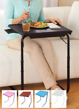 Portable TV Tray Table w/Cup Holder - Adjustable Folding Multipurpose Table Maid