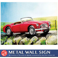 MGA Water Colour Red Metal Wall Sign 30x41cm Official Licensed Motors Gift 50117