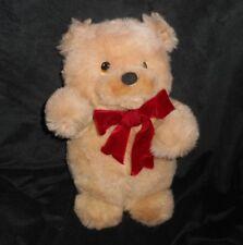 "14"" VINTAGE RUSS BERRIE SANDY TAN / BROWN TEDDY BEAR STUFFED ANIMAL PLUSH TOY"