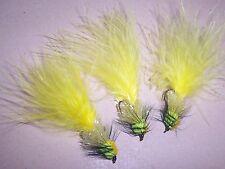 3 x ponderata FLOU L'EGLISE GIALLO TROTA esche da pesca TAGLIA 10 DA salmoflies