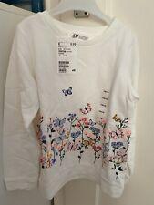 H&M-Pulli Gr.110/116 Creme Mit Schmetterlinge Neu