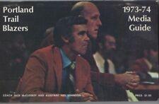 1973-74 PORTLAND TRAILBLAZERS MEDIA GUIDE - GEOFF PETRIE