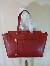 NWT FURLA Cabernet Red Saffiano Leather Large Ginevra Tote Bag $498