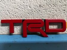 Genuine Toyota Trd Metal Emblem Red Oem New Pt413-35120-02