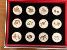 12 x 1 oz colored silver lunar II 2 set series 2008 2019 box