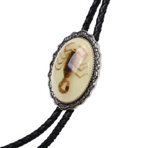 Agate Real Scorpion BOLO Tie Wedding Necklace Vintage Western Cowboy All Colors