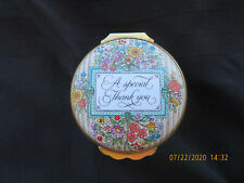 """A Special Thank You"" Halcyon Days Enamels Made In England Trinket Box"