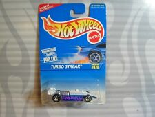 1996 HOT WHEELS  #470 = TURBO STREAK = WHITE & BLUE   5sp