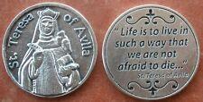 Saint St. Teresa of Avila Holy Prayer Coin Token + MYSTIC / Inquisition