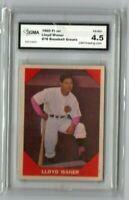 1960 Fleer Lloyd Waner #78 GMA Graded VG-EX+ 4.5 Pirates Braves Reds Phillies
