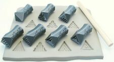 Pottery texturing ceramic clay tools: Rélyéf set of isosceles triangle stamps 15