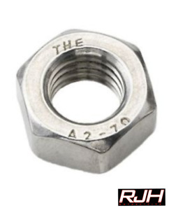 M6 Motorcycle Hexagon Full Nuts A2 304 Stainless Steel DIN 934