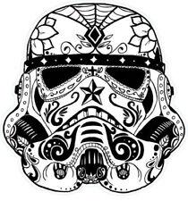 Stormtrooper Shaped Vinyl Sticker 16x15cm laptop psychedelic psychedelia retro