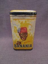 Boite tôle publicitaire ancienne BANANIA farine