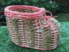 Thai Cute Handcraft Wicker Shoes Storage Basket Souvenir, Gift , Multipurpose