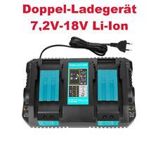 Doppel-Ladestation Akku Ladegerät 7,2V-18V Li-Ion für Makita BL1430 BL1830