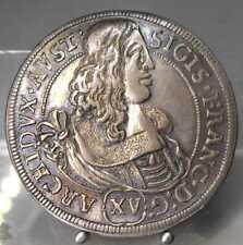 PRACHTSTÜCK!! 15 Kreuzer 1664, Hall, Sigismund Franz,  Silber