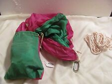 NEW Portable Parachute Nylon Fabric Travel Camping Hammock - with Travel Pouch