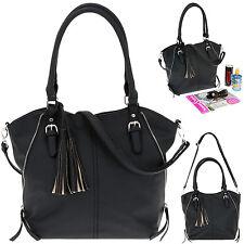 Handtasche ALESSANDRO NEAPEL 4452 Schultertasche Shoppertasche Bag SCHWARZ +Etui