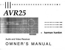 Harman Kardon AVR25 Receiver Owners Manual