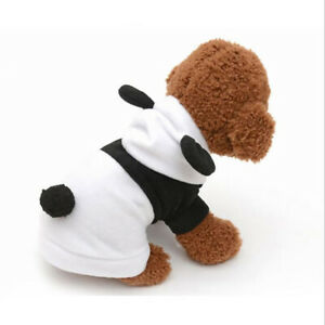 Pet Hoodie Clothes Dog Cat Coat Puppy Apparel Fancy Panda Costume Outfit SU