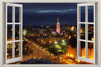CANADA skyline Ottawa Urban City huge 3D Window View Wall Stickers Art Decal