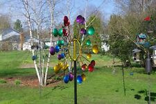 Colorful Rays Windmill Spinner Garden Stake