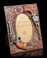 Wilder Westen Bilderrahmen - Zwei Pistolen - Cowboy Western Fotorahmen Revolver